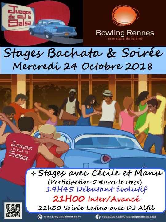 Stages Bachata et Soirée Latino @ bowling Alma Loisirs | Rennes | Bretagne | France