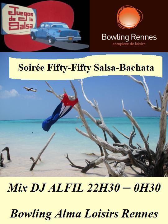 Soirée Fifty-Fifty Salsa & Bachata @ bowling Alma Loisirs | Rennes | Bretagne | France