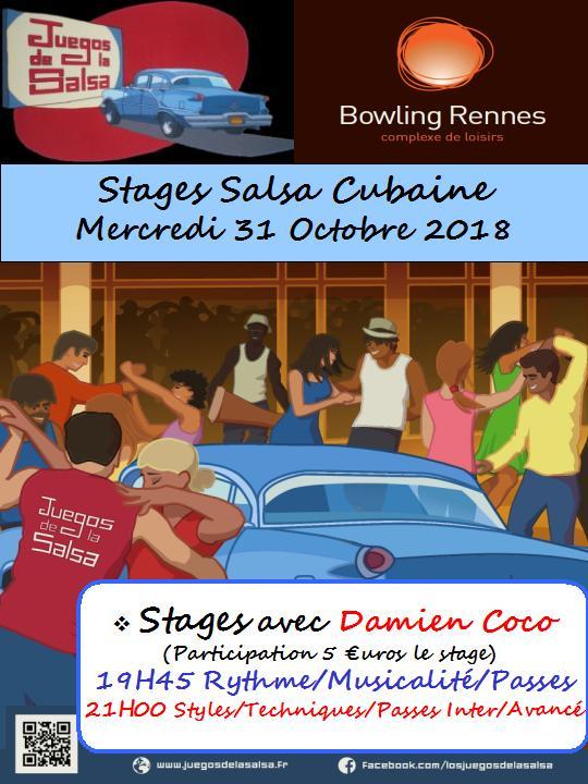 Stages Salsa Cubaine avec Damien Coco @ bowling Alma Loisirs | Rennes | Bretagne | France