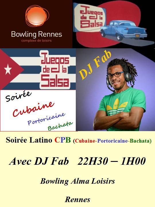 Juegos : Soirée Salsa & Bachata CPB (Cubaine, Portoricaine, Bachata) @ bowling Alma Loisirs | Rennes | Bretagne | France