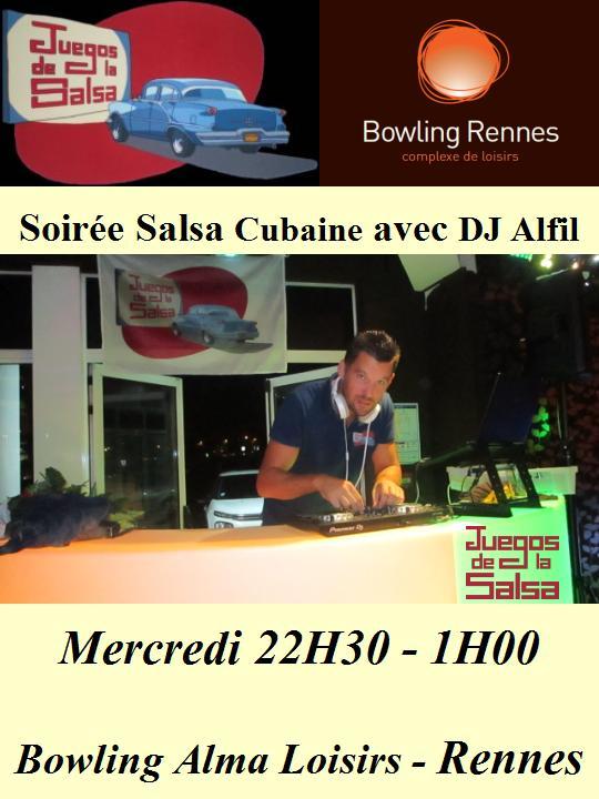 Juegos : Soirée Salsa Cubaine avec DJ Alfil @ bowling Alma Loisirs | Rennes | Bretagne | France