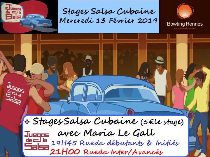 Stages Salsa Cubaine avec Maria
