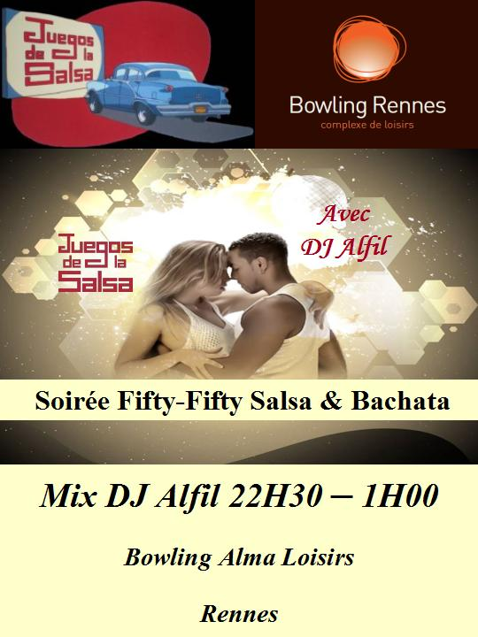 Juegos : Soirée Fifty-Fifty Salsa & Bachata avec DJ Alfil @ bowling Alma Loisirs | Rennes | Bretagne | France