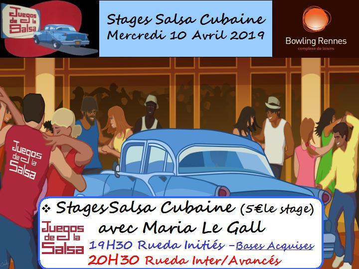 Juegos : Stages Salsa Cubaine avec Maria