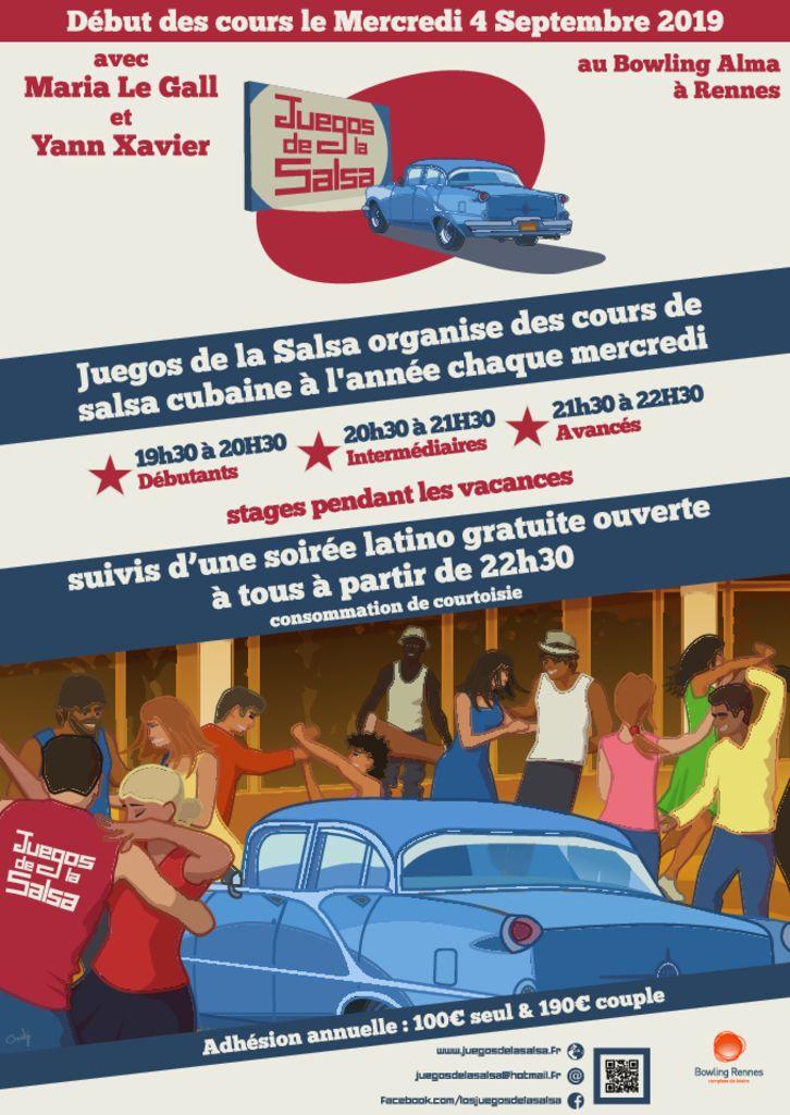 Juegos : Cours Salsa Cubaine - Maria Le Gall & Yann Xavier @ bowling Alma Loisirs | Rennes | Bretagne | France