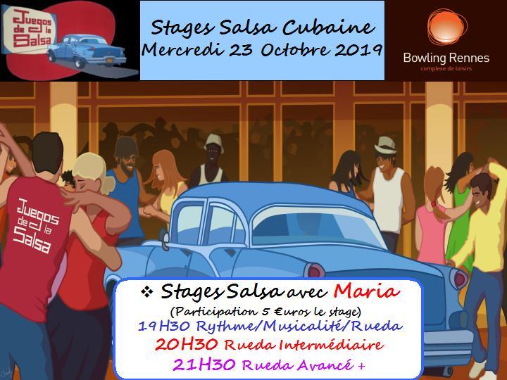 Juegos : Stages Salsa Cubaine avec Maria @ bowling Alma Loisirs | Rennes | Bretagne | France